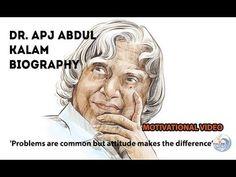 Dr. APJ Abdul Kalam Biography in English | Inspirational and Motivationa... Abdul Kalam, Kaizen, Motivational Videos, Stories For Kids, Biography, Einstein, Waves, English, Inspirational