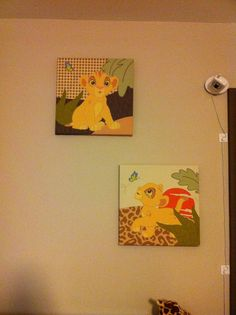 Lion king themed room