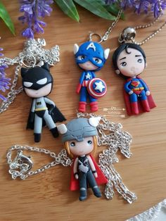 Polymer Clay Figures, Polymer Clay Charms, Polymer Clay Jewelry, Polymer Clay Princess, Wooden Keychain, Quilling Animals, Kids Clay, Bookmarks Kids, Crafty Kids