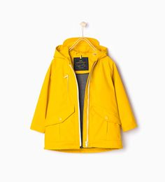 Rubberized hooded parka.-Back to School-Girl (3-14 years)-KIDS | ZARA United States