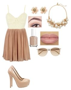 """Quickie"" by hihappy123 ❤ liked on Polyvore featuring tarte, Steve Madden, Essie, The Limited and Witchery"