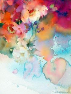 >Я рисую цветы акварелью... Художница Yuko Nagayama.. Обсуждение на LiveInternet - Российский Сервис Онлайн-Дневников
