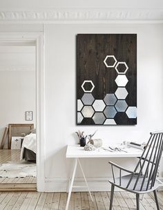 Metal Wall Art   Wood Wall Art   Modern Wood Geometric Painting Metal Large  Contemporary Woodwork Abstract Sculpture