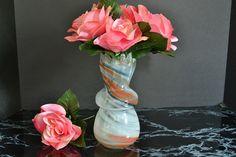 Vintage Glass Vase  Rainbow Swirl Vase by WidhalmsCollectibles