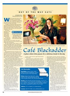 I love to eat at the Black Adder in Warrensburg where the old Teahaus was. Rural Missouri - November 2013 - Page 18