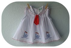 Baby Girl Clothes  Vintage White Sailor Dress  A by NellsNiche, $8.00
