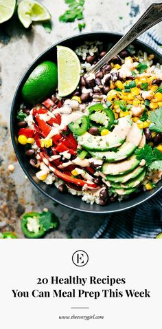 20 Healthy Recipes You Can Meal Prep This Week | The Everygirl
