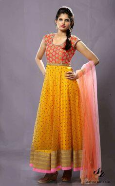 Dresses - 25 Designer Outfits That Speak Tales Of Ethnicity And Elegance Kurta Designs Women, Salwar Designs, Kurti Designs Party Wear, Kalamkari Dresses, Ikkat Dresses, Long Dress Design, Dress Neck Designs, Blouse Designs, Long Gown Dress