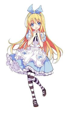 Anime Alice in Wonderland Alicia Wonderland, Alice In Wonderland Outfit, Alice In Wonderland Aesthetic, Adventures In Wonderland, Alice Anime, Lolis Anime, Cartoon As Anime, Anime Art, Kawaii Chibi