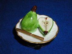 PEARS ON PLATE - Porcelain Limoges from France - Limoges Factory Co.