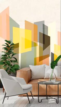 Geometric Wallpaper will add another dimension to your room with various shapes and colours to choose from. These geometric wallpapers are perfect for your interior design projects and are sure to create interest and bring colour to your space. Contemporary Geometric Wallpaper, Geometric Wallpaper For Walls, Print Wallpaper, Colorful Wallpaper, Interior Paint, Home Interior Design, Room Wall Colors, Home Decor Styles, Decoration