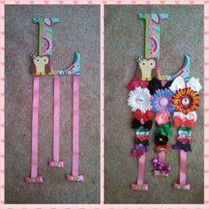 DIY hair clip holder i made :)