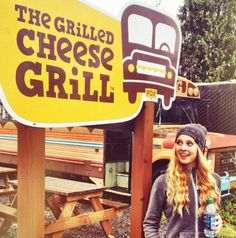 Caroline Sunshine At A Grilled Cheese Restaurant ~Feel like I really need to go there for my first time....