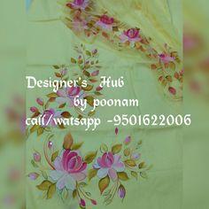 Saree Painting, Fabric Painting, Painting & Drawing, Salwar Kameez, Kurti, Fabric Paint Designs, Hand Painted Dress, Indian Designers, Color Magic