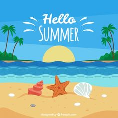Summer background with beach view Free Vector Summer background with beach view Free Vector Summer background with beach view Free Vector Videos Instagram, Photo Instagram, Summer Pictures, Beach Pictures, Photos Bff, Summer Backgrounds, Hello Summer, Free Summer, Summer Beach
