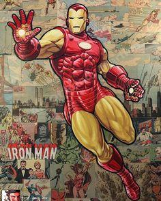 IRON MAN Marvel Comics Superheroes, Marvel Art, Marvel Heroes, Marvel Avengers, Iron Man Suit, Iron Man Armor, Marvel Comic Character, Marvel Characters, Deadpool