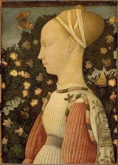 Portrait of Princess. Attributed to Late-Gothic master Pisanello, between 1435 and 1449.