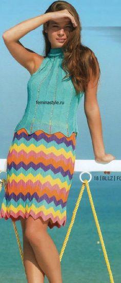 Блузка и юбка с описанием и схемой