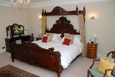 8ft half tester bed - luxury accommodation at Goldsborough Hall