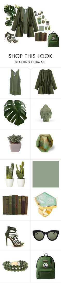 """""""-your as green as the dead plant in the windowsill"""" by ann-fate ❤ liked on Polyvore featuring Wilt, Puji, Janna Conner, Le Specs and Napapijri"""