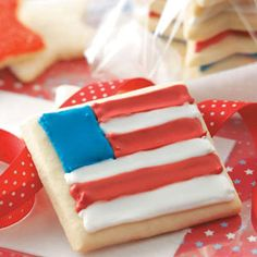 Sugar Star & Flag Cookies Recipe -A favorite cookie to send to troops overseas, these soft sugar cookies ship well and taste great! —Susan Whetzel, Pearisburg, Virginia