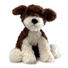 GUND DOG  - DESIGNER PUPS -choclate-creamy MISCHA YORKIE BISHON 10 inch # 320157 #GUND
