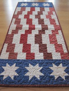 Table runners are quicker to make than a full sized quilt!