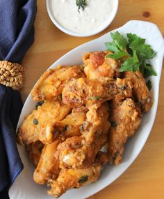 The Garlic Parmesan Chicken Wings exploding with flavor ! YUM !!!