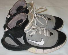 c38601c3f05f Nike Kobe Air Zoom Huarache 2K5 Basketball Shoes Size 10 Black Gray White  310850-012