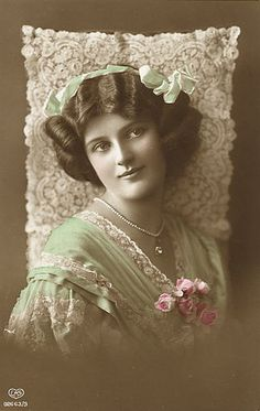 Vintage Woman Cabinet Card