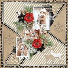 Digital Scrapbooking, Scrapbooking Ideas, Pattern Paper, Digital Art, Table Decorations, Wood, Christmas, Collection, Template