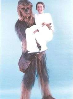 Chewie and Leia #starwars #leia #chewbacca