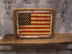 American Flag Rustic Wood Sign Plaque by nockonwood on Etsy, $10.00