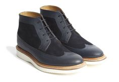 Oh So Right in Navy and White: Oliver Sweeney Kleber #ChukkaBoot ~ #SHOEOGRAPHY #mensshoes