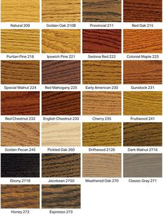 Stain Color Samples