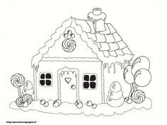 Casa coloració pintar - Dibuix d'impressió