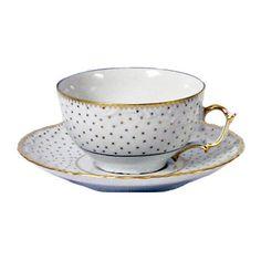 Simply Anna Polka Dot Tea Cup and Saucer   Anna Weatherley