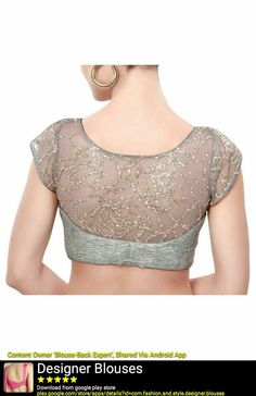 Blouse Designs High Neck, Netted Blouse Designs, Stylish Blouse Design, Fancy Blouse Designs, Bridal Blouse Designs, Designer Blouse Patterns, Sarees, Dresses, Style