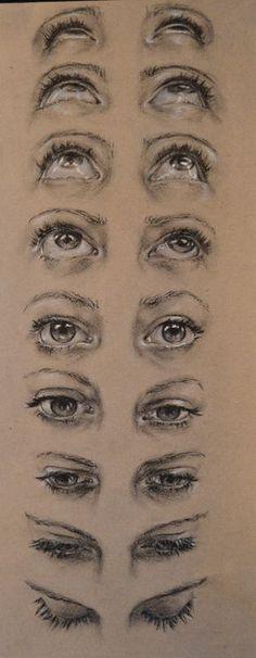 Highschool Misc. on RISD Portfolios eye face perspective looking up looking down                                                                                                                                                                                 Más