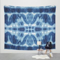 Tie Dye Blues Twos Wall Tapestry by Nina May Designs   Society6