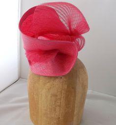 Free Form Parisisal Straw And Pleated Crinoline Headpiece  BY AMANDA G. JOYNER  #millinery #hats #HatAcademy