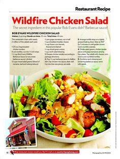 Wildfire Chicken Salad - my favorite from Bob Evan's... and I have been craving one for WEEKS!