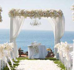 photos of decorated chuppah | wedding arbor decoration design