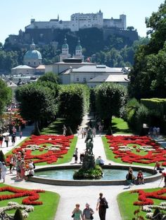 Mirabell Park and Garden in Salzburg, Austria.