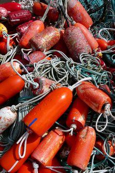 Buoys on the Oregon docks