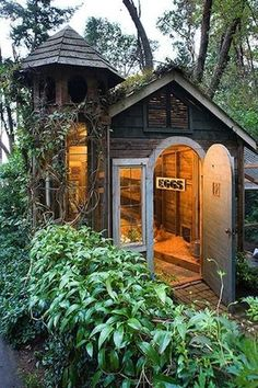 Wow, this chicken coop was made from the ruins of an old shed. What a fabulous and functional transformation!