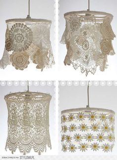 DIY con encajes de ganchillo o bolillos ¿Hay algo más vintage? • 40 Inspiring DIY Lace Decorations