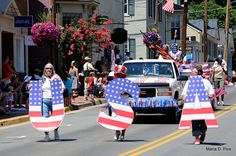 July 4th Parade - USA - Leesburg, VA, small-town Independence Day Parade.