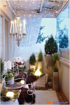 Balkonlarınıza Uygun Kış Dekorasyonları   Moda Dekorasyon