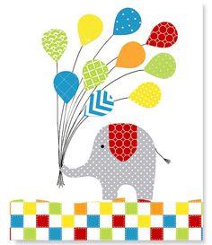 Elephant Nursery Print Gender Neutral Grey by SweetPeaNurseryArt